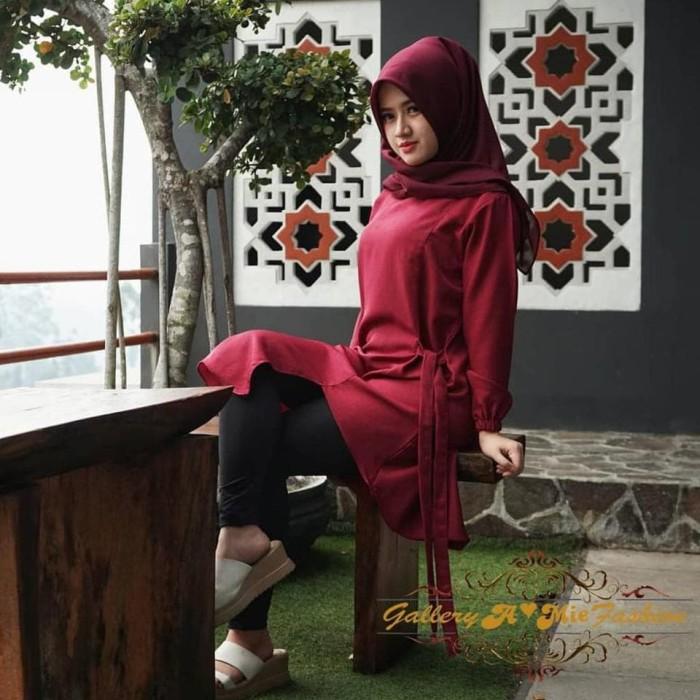 Jual Blouse Tunik Wanita Baju Muslim Fashion Hijab Remaja Terkini