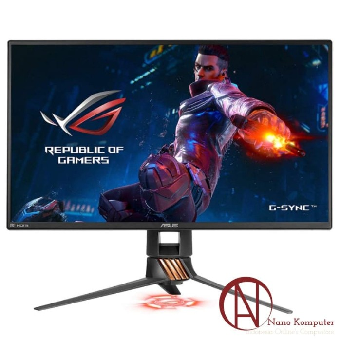 harga Asus gaming monitor rog swift pg258q 24.5  fhd tn 240hz 1ms g-sync Tokopedia.com