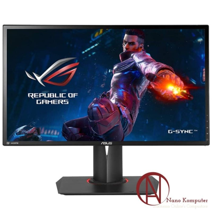 harga Asus gaming monitor rog swift pg248q 24  fhd tn 180hz 1ms g-sync Tokopedia.com