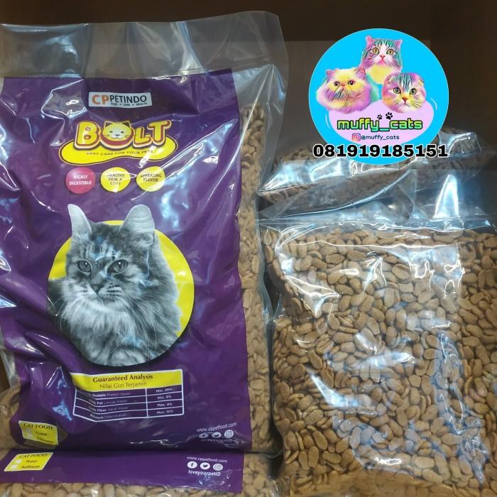 Jual Bolt Tuna Repack 500gr Makanan Kucing Bolt Repack Murah