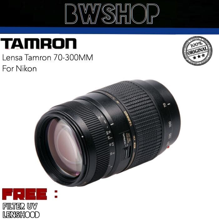 Foto Produk LENSA TAMRON 70-300MM f/4-5.6 for NIKON dari bw shop-