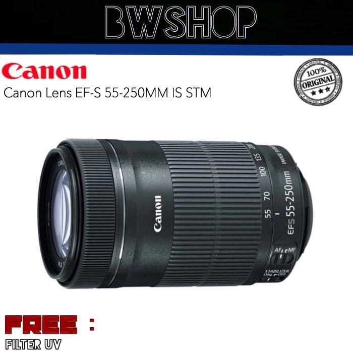 Foto Produk Lensa Canon 55-250 IS STM + FILTER UV dari bw shop-