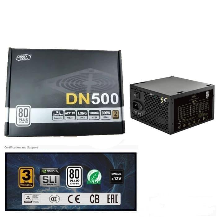 Foto Produk Deepcool Power Supply DN500 500W FLAT CABLE 80 Efficiency dari REFORMASI COMPUTER