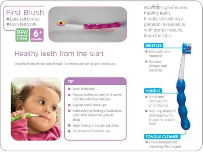 MAM First Brush 6m+ | Baby Tooth Brush | Toothbrush | Sikat gigi bayi
