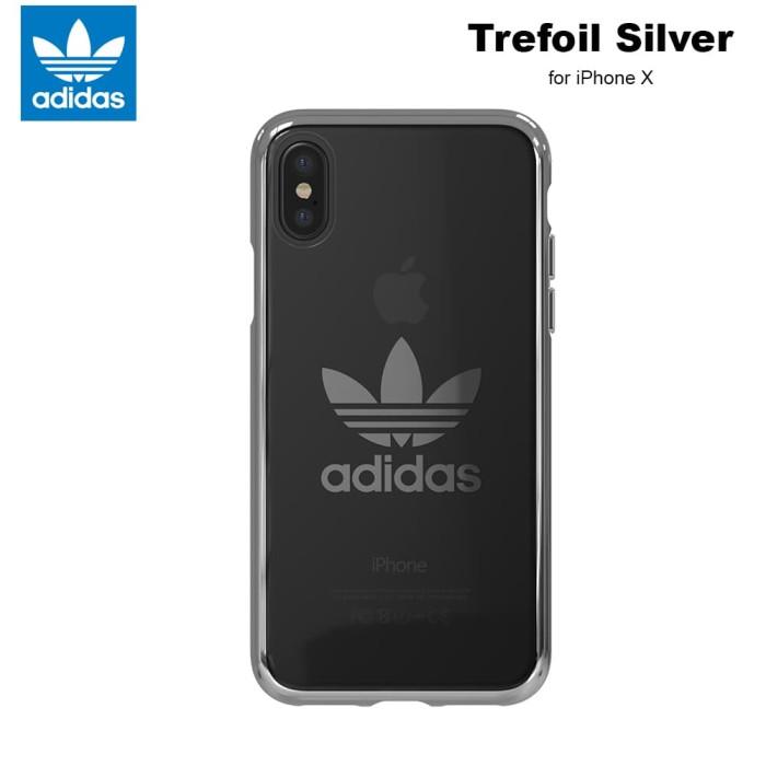 Foto Produk Case iPhone X Adidas Originals Trefoil Clear Soft Case - Silver dari Adidas Mobile Case