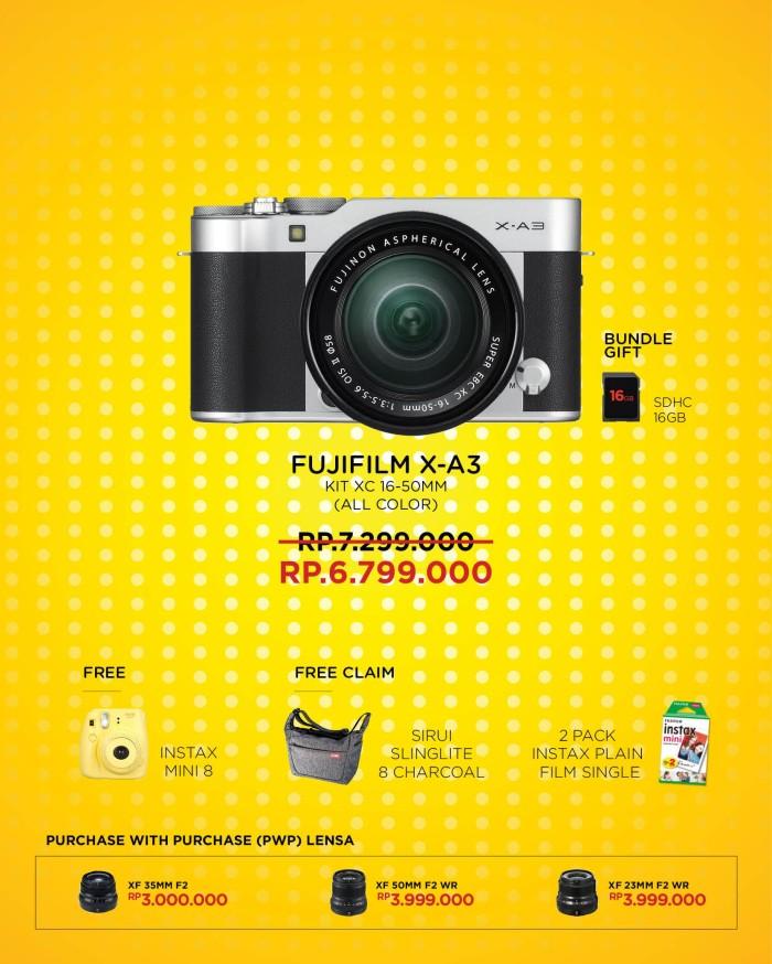 harga Fujifilm xa3 x-a3 kit xc 16-50mm garansi resmi fujifilm indonesia Tokopedia.com