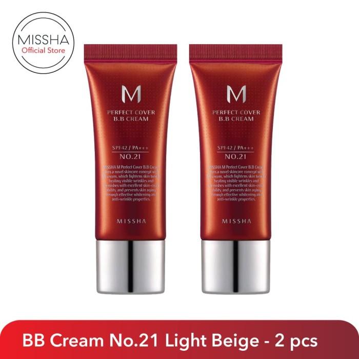 Foto Produk M Perfect Cover BB Cream SPF42/PA+++ (20ml) - 2 pcs dari Missha Indonesia