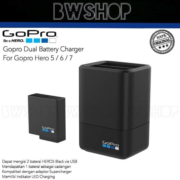 Foto Produk CHARGER BATTERY DUAL GOPRO HERO 5 - GOPRO HERO 6 - GOPRO HERO 7 dari bw shop-