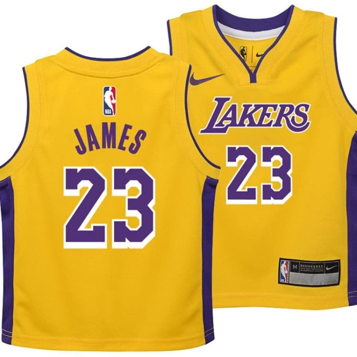 new style 8c0e8 a047d Jual Jersey NBA LA Lakers #23 Lebron James Original Authentic - Kota  Surabaya - Wijaya Original | Tokopedia