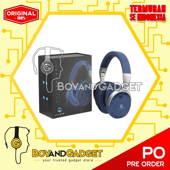 ee083e4bcdc Jual Paww WaveSound 2.1 Wireless Over-the-Ear Foldable Headphones ...