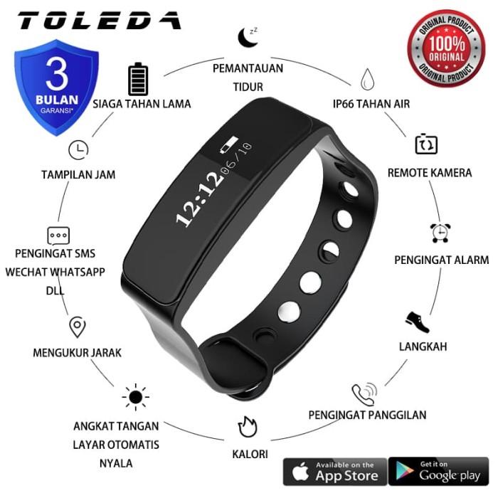 Foto Produk TOLEDA SmartBand TLW 05 Original 100% Smartwatch - Orange dari Toleda Indonesia