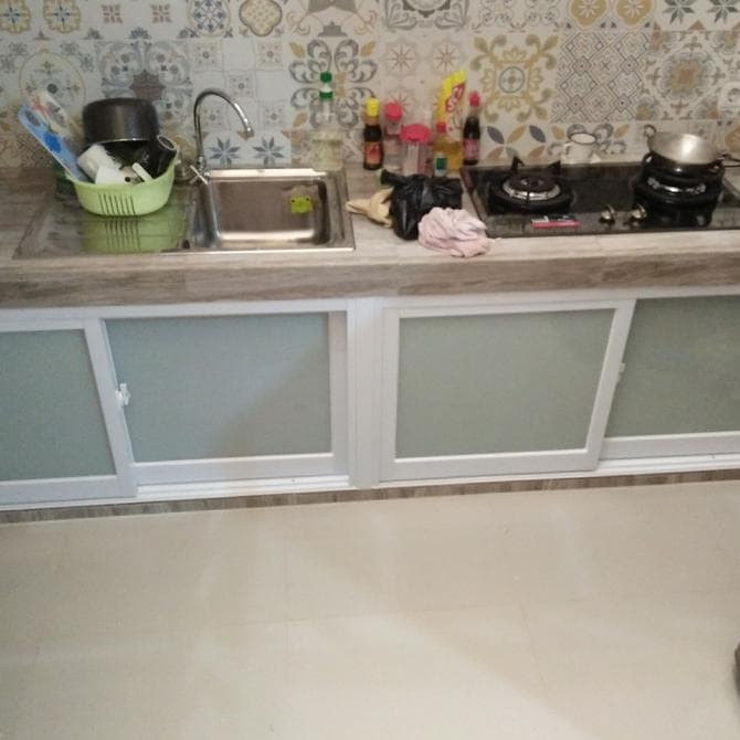 Jual Kitchen Set Aluminium Dapur Aluminium Pintu Bawah Dapur