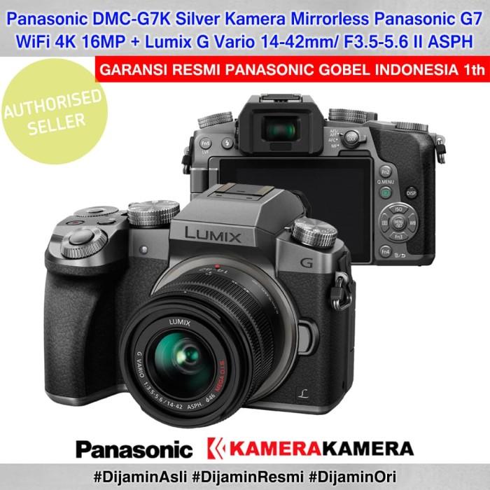 harga Panasonic dmc-g7k silver panasonic lumix g7 14-42mm garansi resmi 1th Tokopedia.com