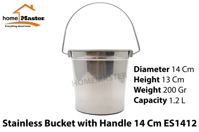 harga Ember ice/es/champagne bucket stainless w/ handle 14 cm es1412 Tokopedia.com