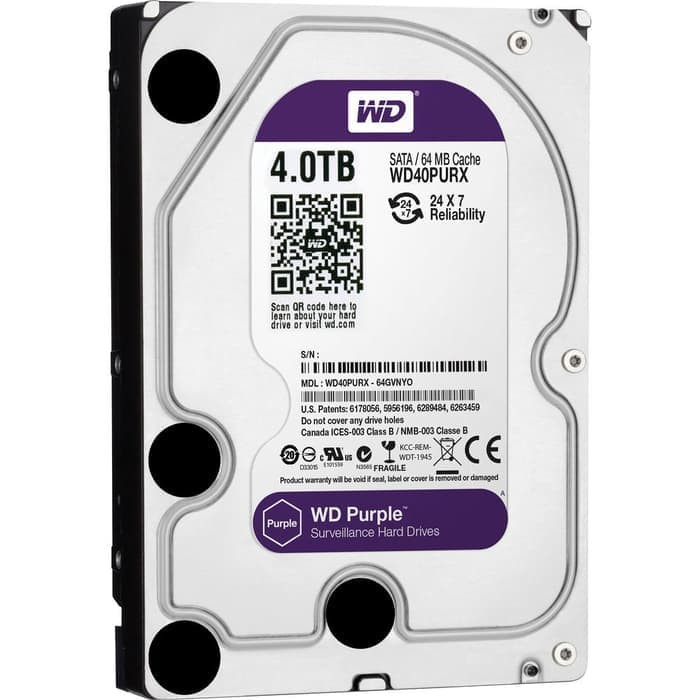 HD CCTV WDC Purple 4TB