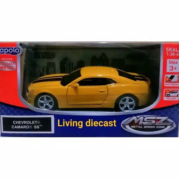 Jual Diecast Miniatur Chevrolet Camaro Yellow Color Jakarta Timur Living Die Cast Tokopedia