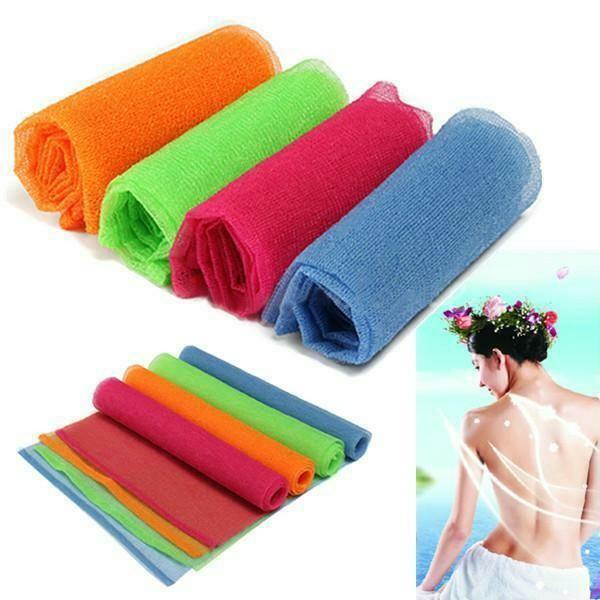 1x Nylon Mesh Bath Shower Body Washing Clean Exfoliate Puff Scrubbing Towel
