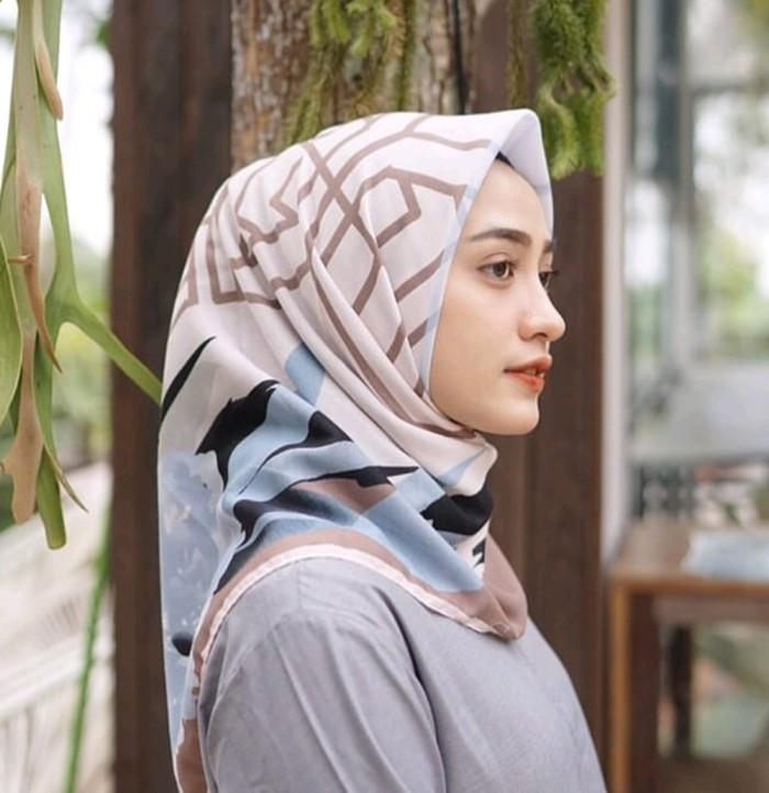 Jilbab Voal Premium , Hijab Two Tone Voal Premium , Hijab Voal Motif