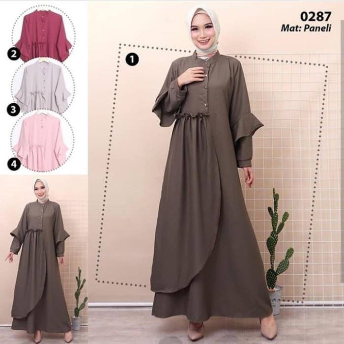Jual Baju Muslim Wanita Model Gamis Terkini Cokelat Jakarta Timur Toko Grosir Muslim Tgm Tokopedia