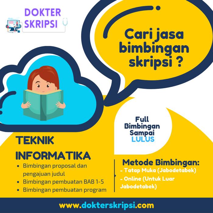 Jual Pembuatan Bimbingan Skripsi Sistem Informasi Jakarta