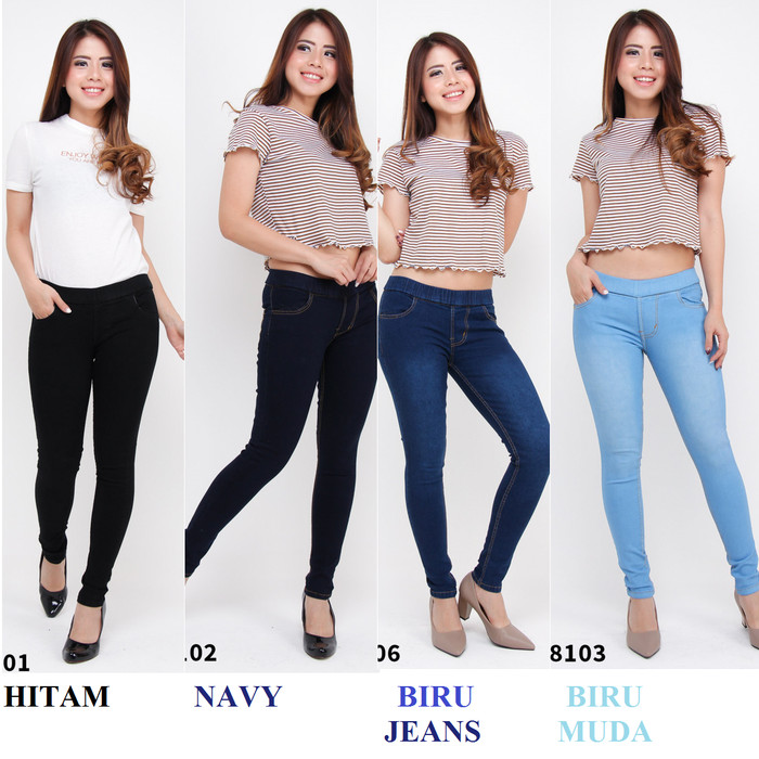 Jual Celana Legging Jeans Jegging Jumbo Panjang Pinggang Karet Melar Big Biru 31 Jakarta Utara Azarious Jeans Tokopedia