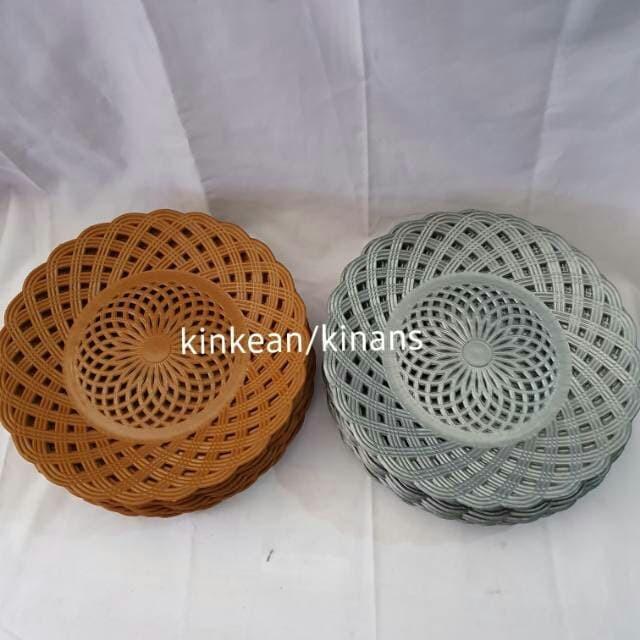 Foto Produk Piring plastik anyam - Cokelat dari Kinans_collection