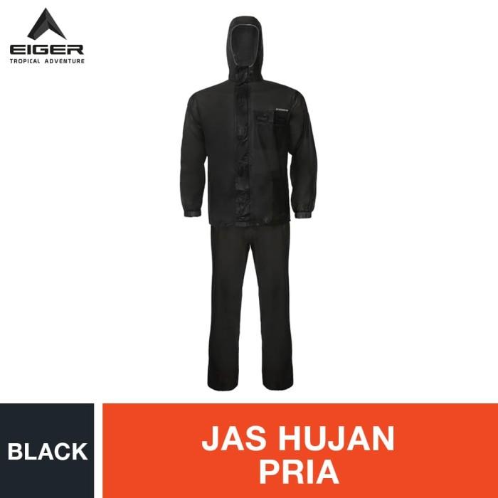 Foto Produk Eiger Riding Maneuver Rainsuit - Black - Hitam, XL dari Eigerindo Store