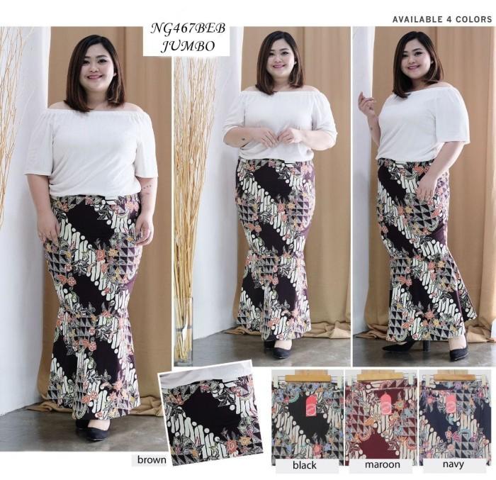 Bawahan Batik Wanita Rok Maxi Batik Jumbo Duyung Katun Stretch Ng467
