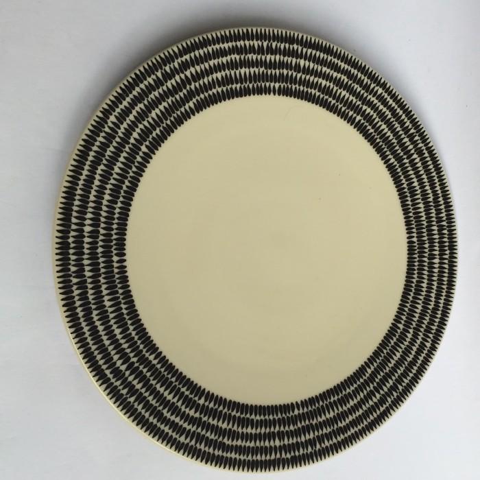 Foto Produk Piring makan motif hitam|Export Murah| Dinner Plate Sainsburry black dari GALAXY HouseholdCeramics