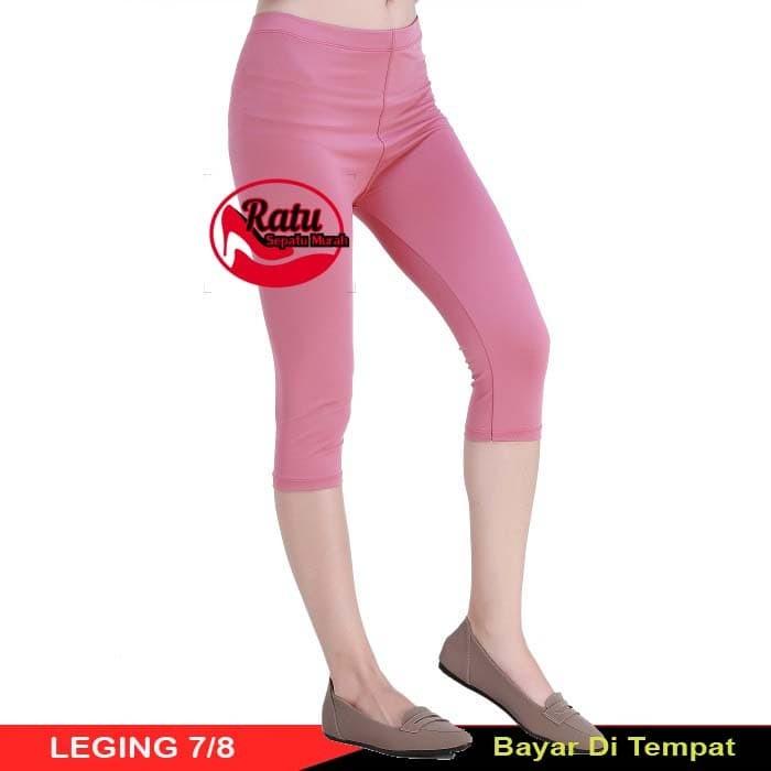 Jual Celana Legging Leging Pendek Selutut All Standard Harga Grosir Merah Muda Kota Depok Ratusepatumurah Tokopedia