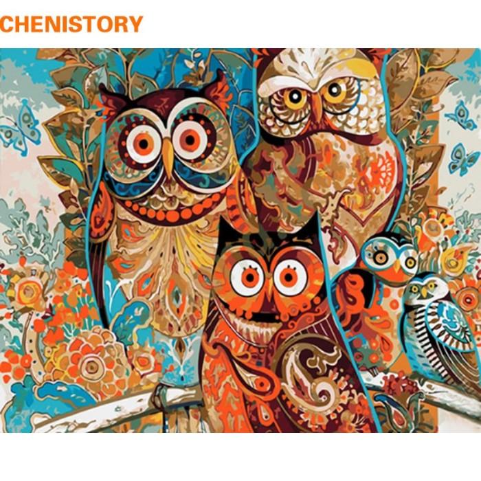 Jual Chenistory Tanpa Bingkai Antik Burung Hantu Diy Lukisan By