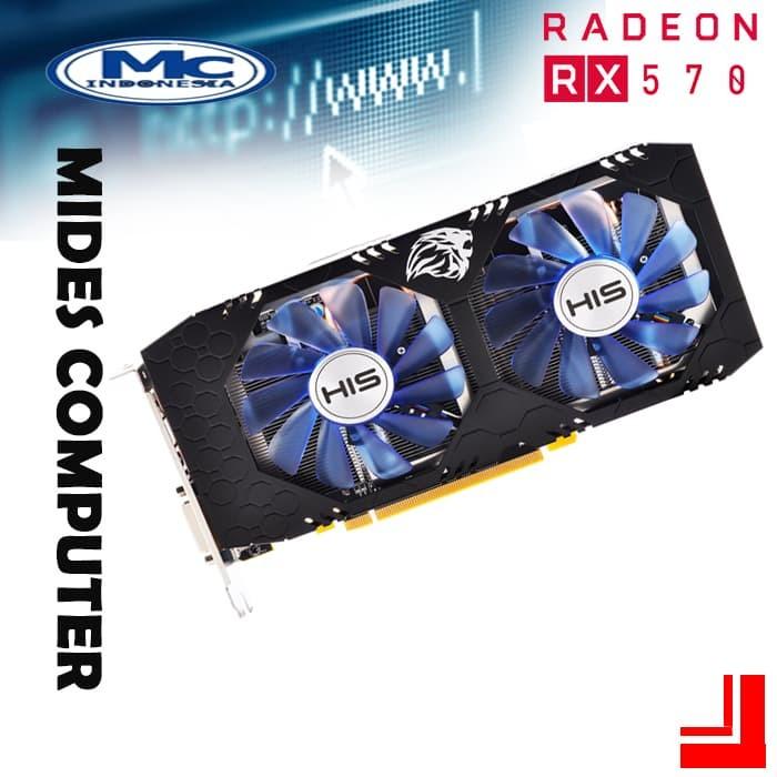 HIS AMD Radeon RX570 IceQ X2 Turbo 4GB