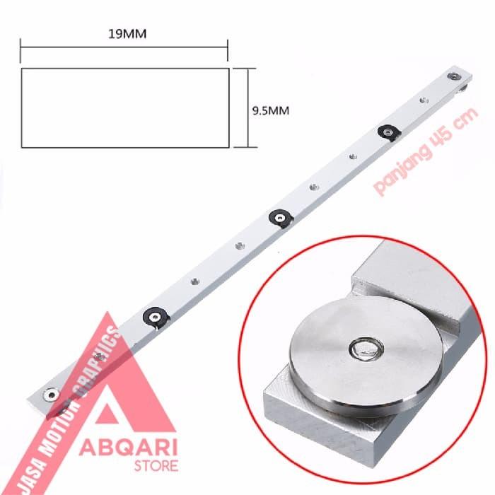 Jual miter bar / mitre gauge / table saw runner / t track slider bar / slob  - Jakarta Utara - Jasa Motion Graphic | Tokopedia