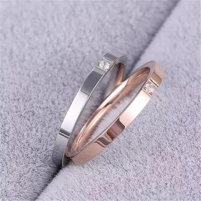 harga Cincin titanium wanita cewek rosegold elegan cantik kado hadiah Tokopedia.com