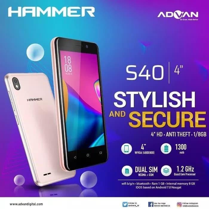 Foto Produk ADVAN S40 RAM 1GB/8GB - Hitam dari kios hapeku