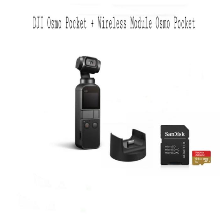 harga Dji osmo pocket plus wireless module original free memory 64gb Tokopedia.com