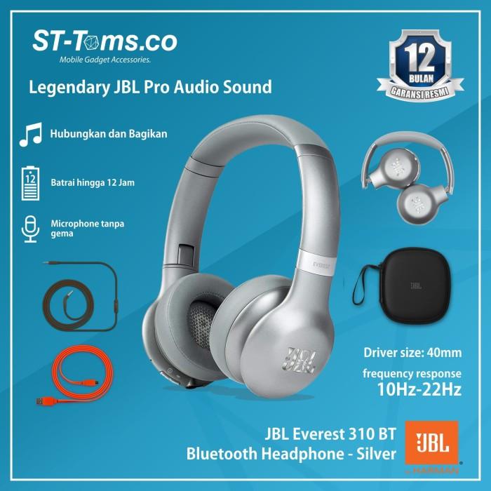 harga Jbl everest 310 bt / 310bt bluetooth headphone - silver Tokopedia.com