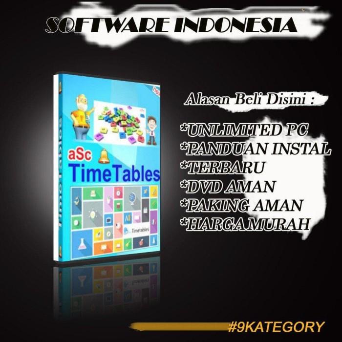 Jual PROMO! Software aSc Timetables 2019 Pembuat Jadwal Pelajaran Otomatis  - Jakarta Pusat - Software 9 Kategory | Tokopedia