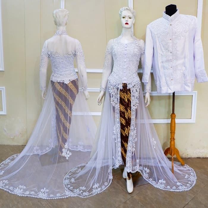 Jual Kebaya Akad Couple Baju Pengantin Modern Muslim Free Rok Selop Kab Bandung Barat Anjasmarashop Tokopedia