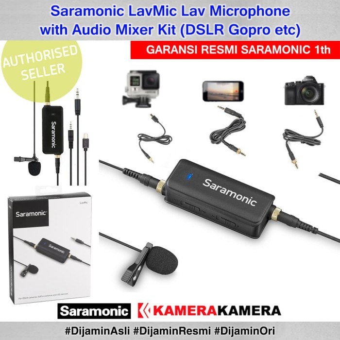 harga Saramonic lavmic lav microphone with audio mixer kit (dslr gopro etc) Tokopedia.com