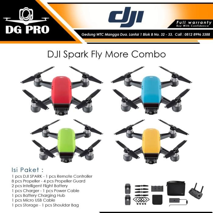 harga Dji spark fly more combo (garansi resmi) - drone dji spark - green Tokopedia.com