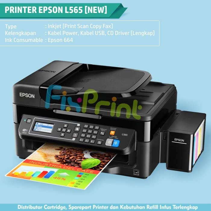 Jual Ink Tank Printer Epson L565 WIFI All-in-One (Print, Scan, Copy, FAX) -  Kota Surabaya - FixPrint Jakarta   Tokopedia