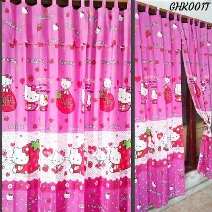 Model Gorden Pintu Tengah jual gorden karakter pintu jendela kawat s hello kitty jakarta timur kelapkelip acc tokopedia