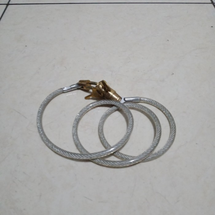 Foto Produk kunci sepeda spiral mirip* taiwan*. kepala kuningan dari JB Shop 1