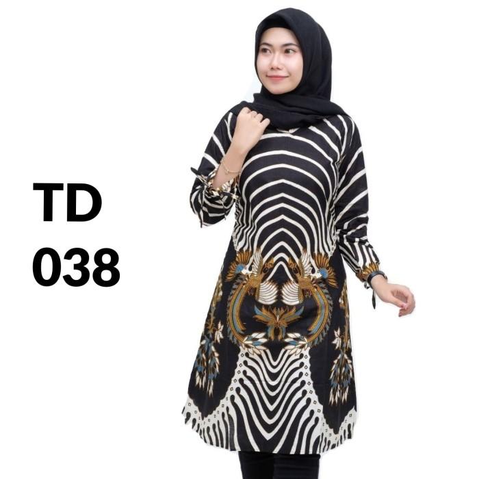 Jual Tunik Atasan Batik Solo Batik Kantor Baju Batik Wanita Td 038 L Kota Pekalongan Batik Resmi Tokopedia