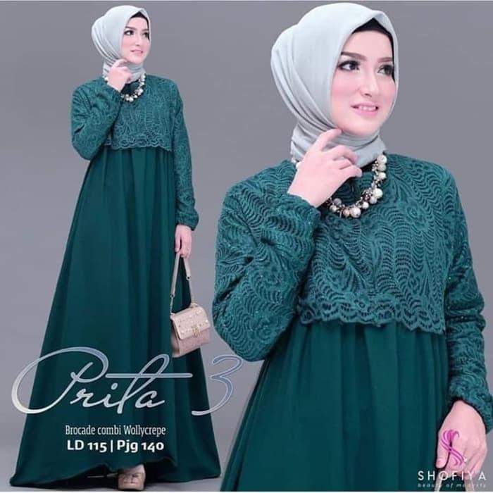 Jual Brukat Gamis Maxi Maxy Dress Baju Seragam Pesta Pernikahan Pagar Ayu Kota Tangerang Boutique Preloved Tokopedia
