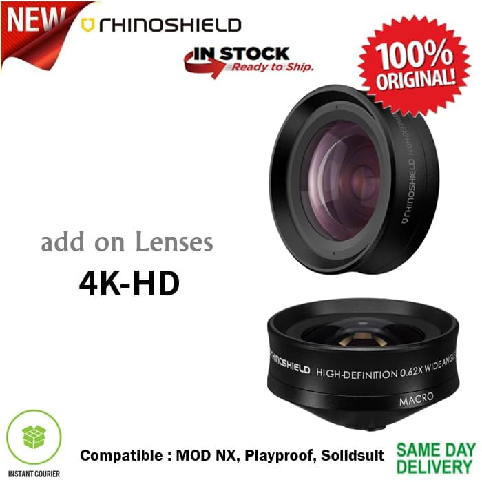 Foto Produk RhinoShield Lens 4K HD Wide + Macro (New Version) iPhone / Samsung dari Spigen Indonesia