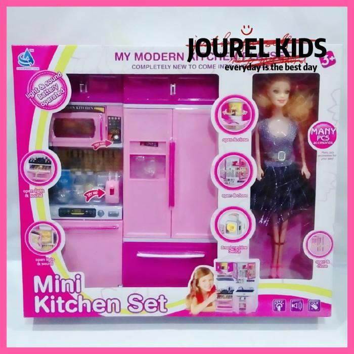 Jual Mainan Cewek Kitchen Set Kulkas Modern Barbie Frozen Hello Kitty Jakarta Barat Jourel Kids Tokopedia