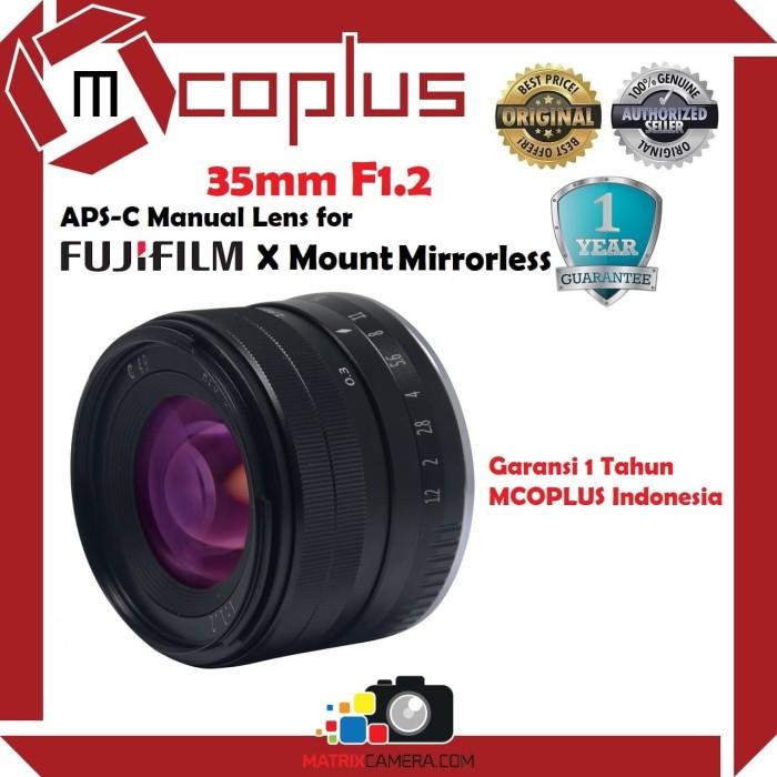 Foto Produk Lensa Mcoplus 35mm F1.2 Lens for Fujifilm X Mount Mirrorless Camera dari MatrixCamera