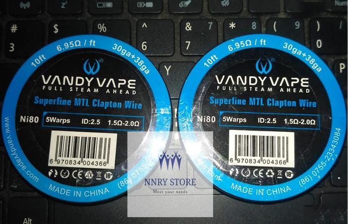 Foto Produk Authentic Vandy Vape Ni80 Superfine MTL Clapton Heating Wire dari NNRY Store
